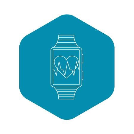 Smartwatch sport icon. Outline illustration of smartwatch vector icon for web