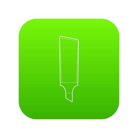 Marker icon green vector Illustration