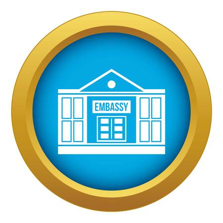 Embassy icon blue vector isolated Vectores