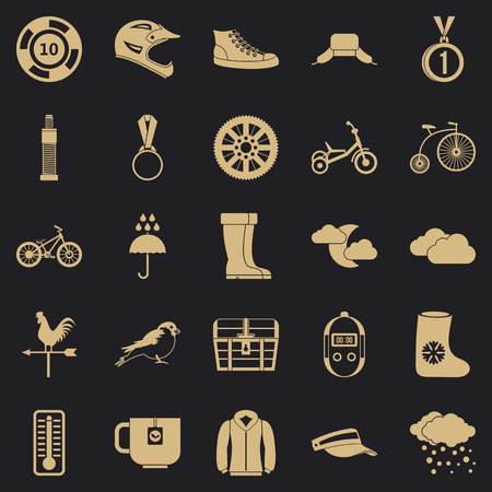 Outdoor sports icons set. Simple set of 25 outdoor sports vector icons for web for any design