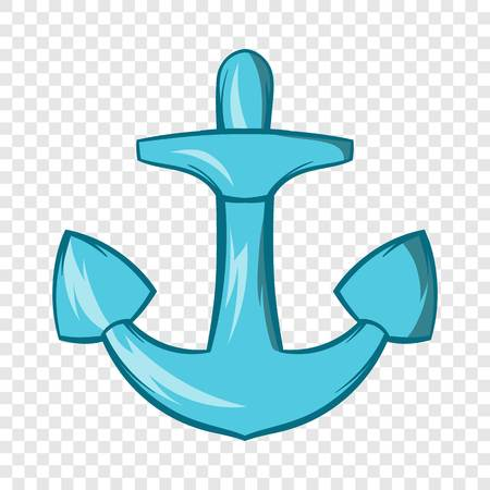 Anchor icon in cartoon style