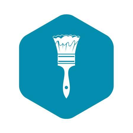 Paint brush icon in simple style isolated on white background Ilustração