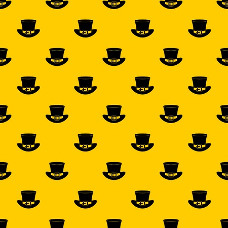 Top hat with buckle pattern seamless vector repeat geometric yellow for any design