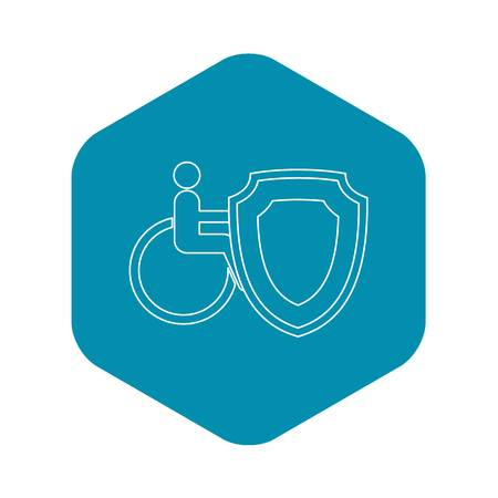 Insurance disabled concept icon. Outline illustration of Insurance disabled vector icon for web