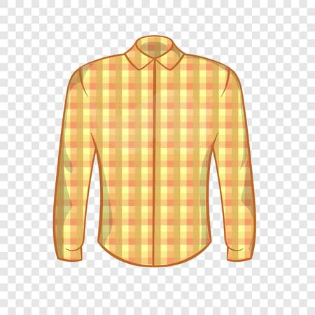 Lumberjack shirt icon, cartoon style  イラスト・ベクター素材