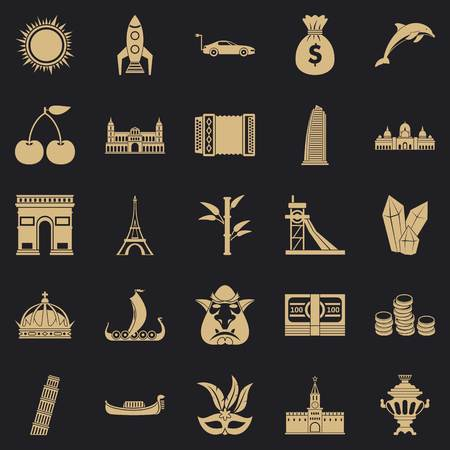 Exploring the world icons set. Simple set of 25 exploring the world vector icons for web for any design