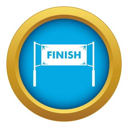 Finish line gates icon blue vector isolated on white background for any design