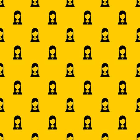 Mother pattern seamless vector repeat geometric yellow for any design Banque d'images - 125075535