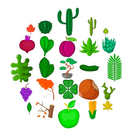 Green space icons set. Cartoon set of 25 green space vector icons for web isolated on white background Illustration
