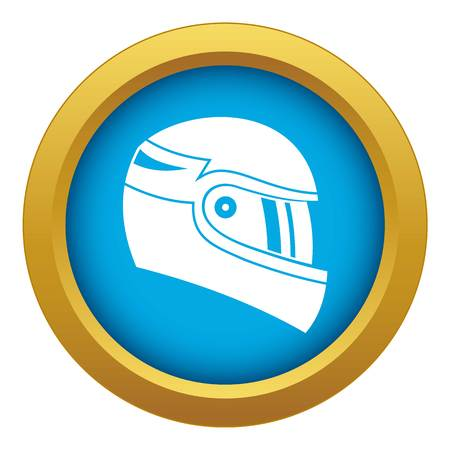 Racing helmet icon blue vector isolated on white background for any design Illustration