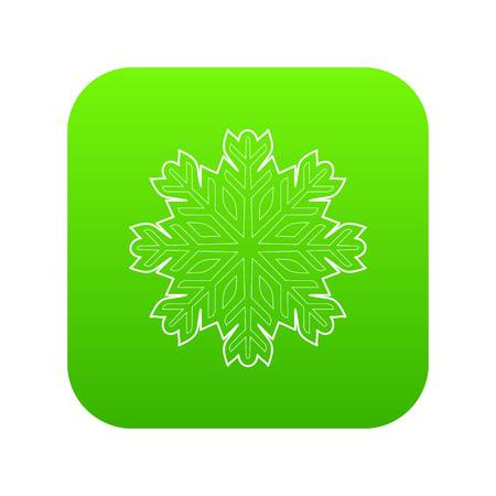 Cold icon green vector isolated on white background Illustration