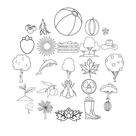 Flourish icons set. Outline set of 25 flourish vector icons for web isolated on white background