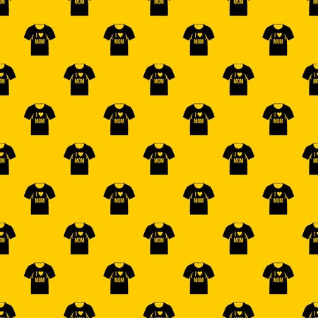 Shirt with print pattern seamless vector repeat geometric yellow for any design Illustration