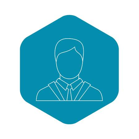 Man icon. Outline illustration of man vector icon for web