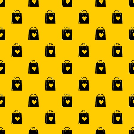 Shopping bag pattern seamless vector repeat geometric yellow for any design Illusztráció