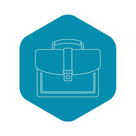 Briefcase icon. Outline illustration of briefcase vector icon for web