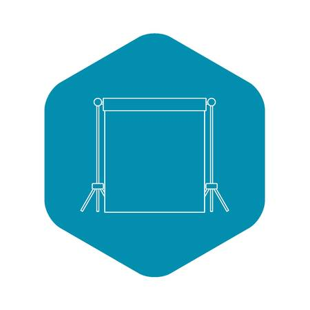 Backdrop stand with backdrop icon. Outline illustration of backdrop vector icon for web Ilustrace