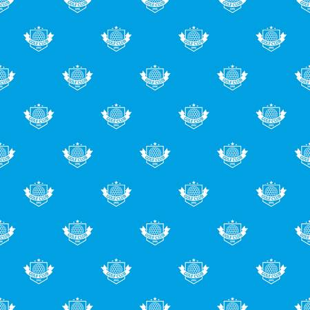 Golf pattern vector seamless blue Illustration