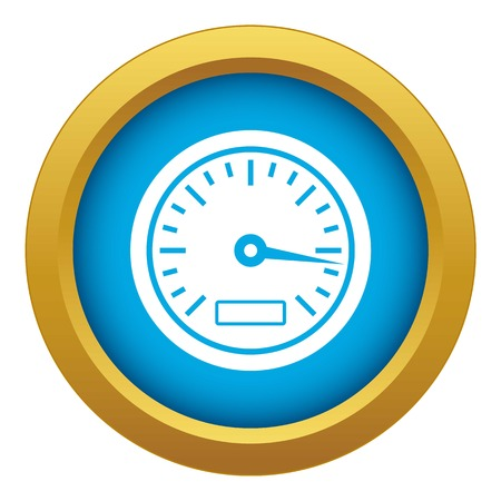 Speedometer icon blue vector isolated on white background for any design Illustration