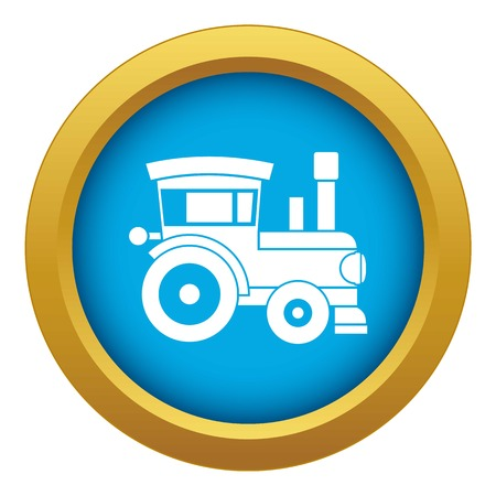 Toy train icon blue vector isolated on white background for any design Banque d'images - 125075648