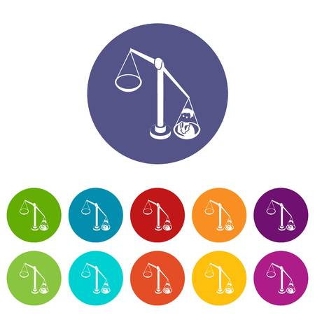 Balance election icons color set vector for any web design on white background