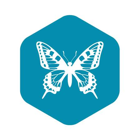 Butterfly icon in simple style for any design Stock Illustratie