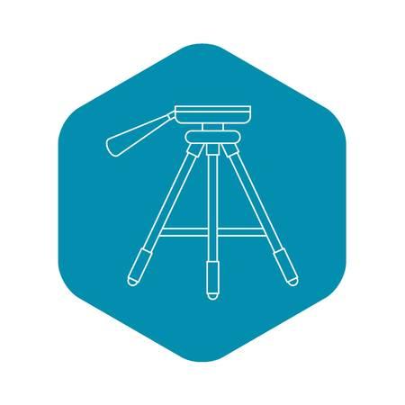 Aluminum rack holder icon. Outline illustration of aluminum rack holder vector icon for web