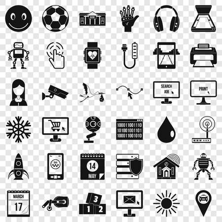 App icons set, simple style