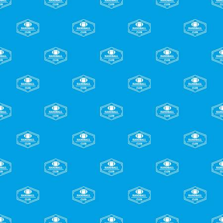 Handball pattern vector seamless blue Illustration