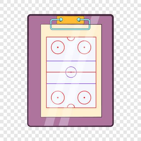 Tablet coach with tactical placement of teams icon Illustration