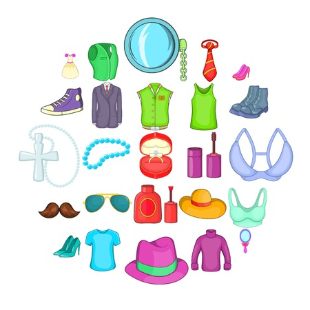 Adornment icons set. Cartoon set of 25 adornment icons for web isolated on white background Banque d'images - 125075737