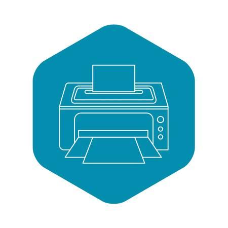 Photo printer icon. Outline illustration of photo printer vector icon for web Illustration