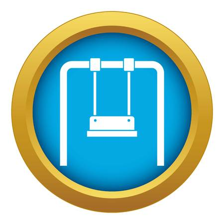 Swing icon blue vector isolated