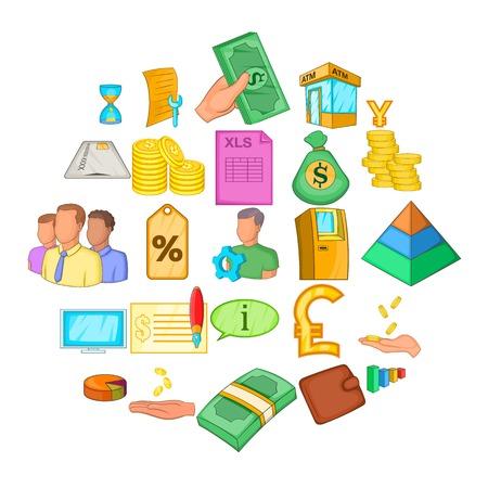 Stocktaking icons set. Cartoon set of 25 stocktaking icons for web isolated on white background Ilustrace