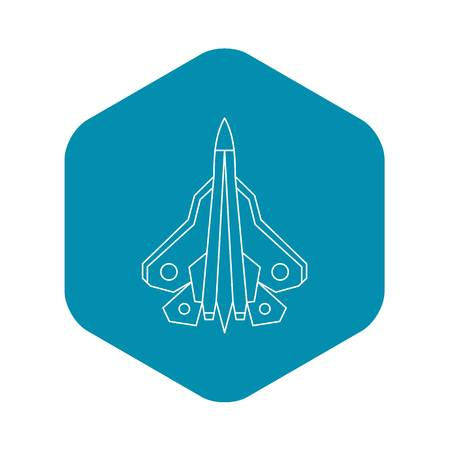 Military fighter plane icon. Outline illustration of fighter plane vector icon for web Ilustrace