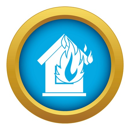 Preventing fire icon blue vector isolated on white background for any design Banque d'images - 125075804