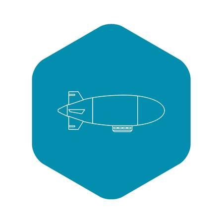 Airship balloon aerostat icon. Outline illustration of airship balloon aerostat vector icon for web Ilustrace