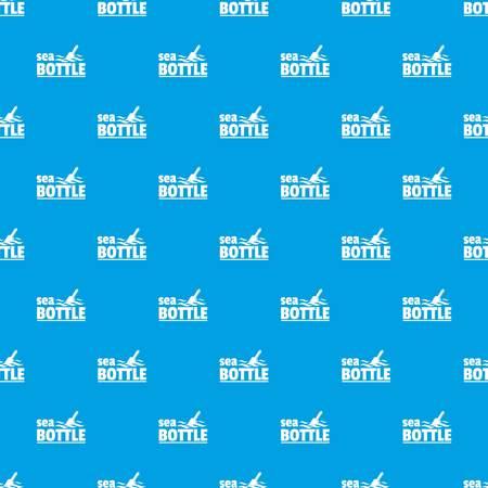 Sea bottle pattern vector seamless blue