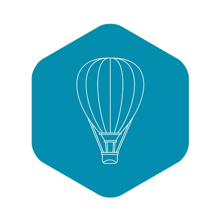 Air ballon icon. Outline illustration of air ballon vector icon for web