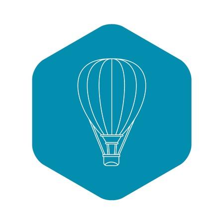 Air ballon icon. Outline illustration of air ballon vector icon for web