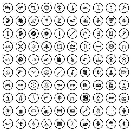 100 gear icons set in simple style for any design vector illustration Illustration