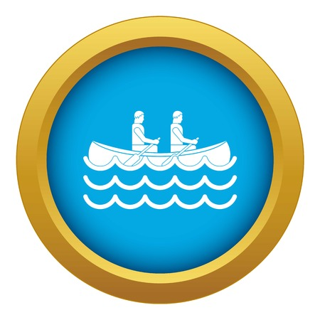 Canoeing icon blue vector isolated on white background for any design
