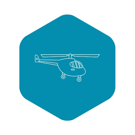 Helicopter icon. Outline illustration of helicopter vector icon for web Ilustrace