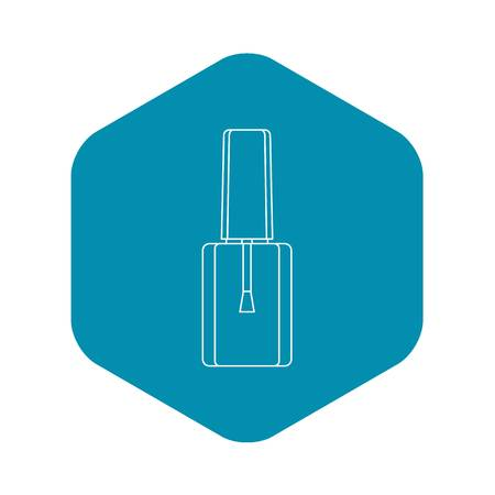 Bottle of nail polish with brush icon. Outline illustration of bottle of nail polish vector icon for web