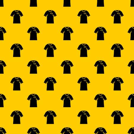 Shirt with the flag of Brazil sign pattern seamless vector repeat geometric yellow for any design