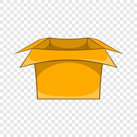 Carton box icon, cartoon style Illustration