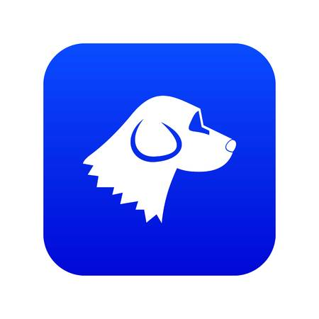 Beagle dog icon digital blue for any design isolated on white vector illustration