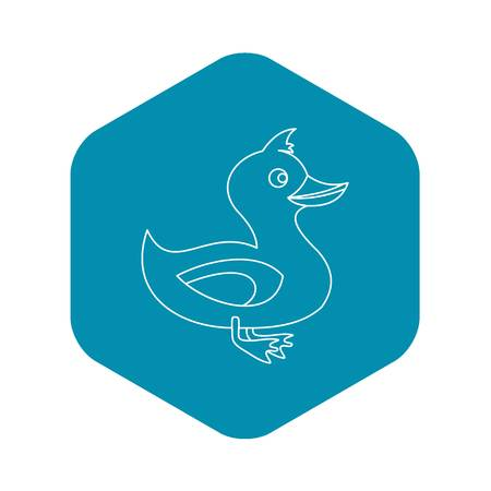 Duck icon. Outline illustration of duck vector icon for web Иллюстрация