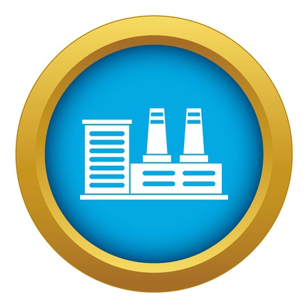 Power plant icon blue vector isolated on white background for any design
