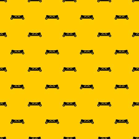 Skateboard deck pattern seamless vector repeat geometric yellow for any design Archivio Fotografico - 125026743